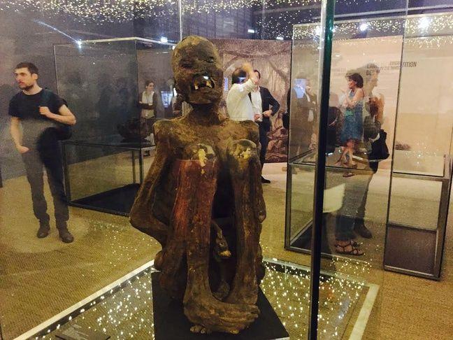 Une des momies de l'exposition.