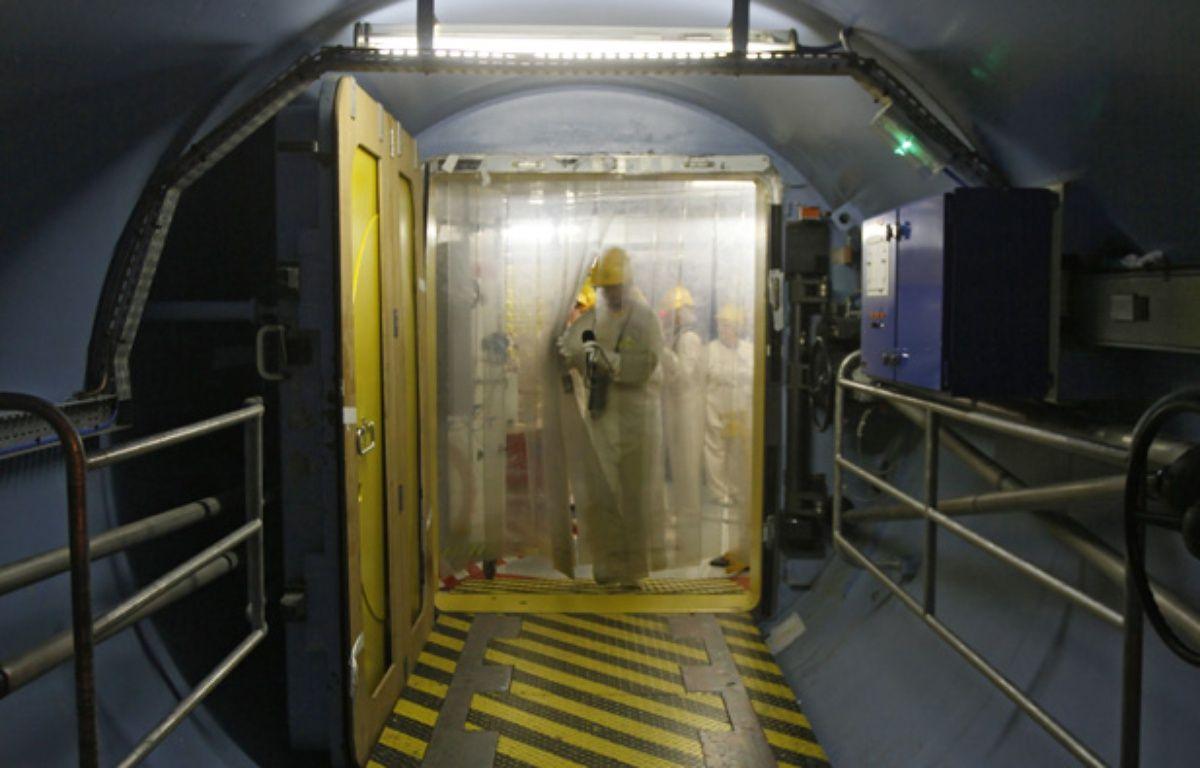 Le sas d'entrée en zone nucléaire de l'un des réacteurs de la centrale EDF de Gravelines. – M.Libert/20 Minutes
