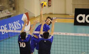 Le Paris Volley à l'entraînement, le 10 décembre 2008.