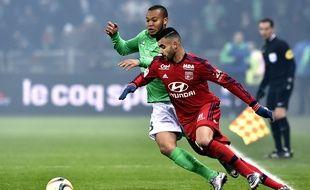 S'il n'a pas marqué dimanche dans le derby, Rachid Ghezzal a fait très mal à Polomat, en étantnotamment à l'origine des trois plus grosses occasions de l'OL. JEFF PACHOUD