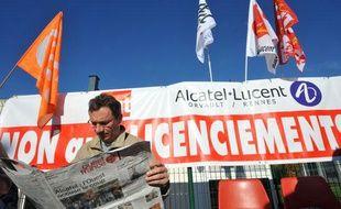 Le 10 octobre, des salariés d'Alcatel ont manifesté à Nantes contre le plan de suppression d'emplois.