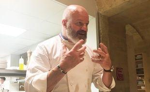 Philippe Etchebest, dans son restaurant étoilé LA Table d'hôtes à Bordeaux, le 31 janvier 2019.