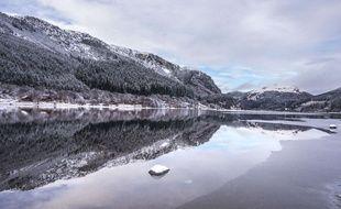 Loch Lubnaig sous la neige, dans les highlands écossais, le 22 janvier 2019