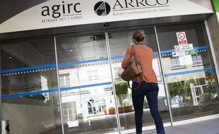 Devant une agence Agirc-Arrco. (illustration)