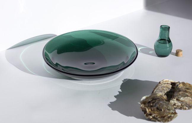 La collection de verre marin Glaz a séduit plusieurs restaurateurs étoilés de la région.