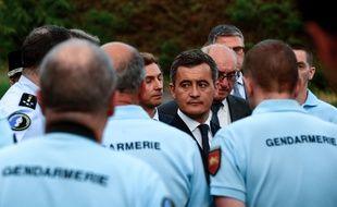 Le ministre de l'Intérieur, Gérald Darmanin, en visite le 7 juillet à Port-Sainte-Marie pour rendre hommage au gendarme Mélanie Lemée.