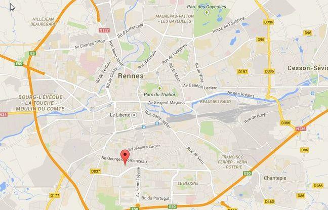 L'homme habite dans les quartiers sud de Rennes.