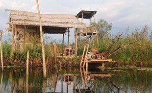 Un pêcheur, le 13 septembre 2013, sur la rivière Neretva dans le parc naturel de Hutovo Blato