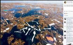 Des îles d'immondices s'étendent sur 2 kilomètres.