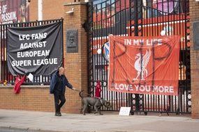 Les abords d'Anfield, lors de la journée de lundi.