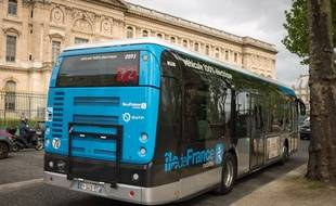 Un bus électrique de la RATP, à Paris. (Illustration)