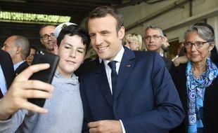Emmanuel Macron en déplacement à Lorient