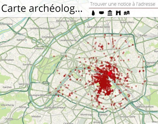 La carte archéologique de Paris