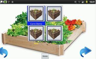 L'application Mon jardin en carré nous aide à planter quelques légumes sur notre balcon.