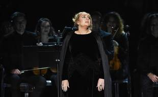 Adele aux Grammy Awards, le 12 février 2017.