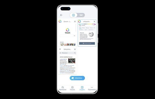 Le moteur de recherche Qwant un smartphone P40 Pro de Huawei