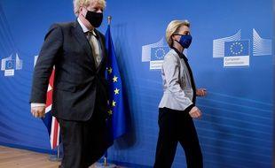 La présidente de la Commission européenne Ursula von der Leyen a dîné avec le Premier ministre britannique, Boris Johnson mercredi 9 décembre 2020.