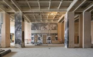 Photo du chantier du musée de l'Homme, entrée du musée.
