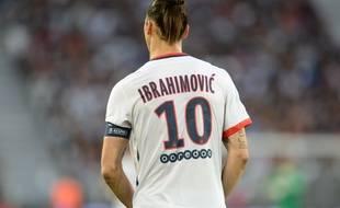L'attaquant du PSG Zlatan Ibrahimovic, le 11 mai 2016.