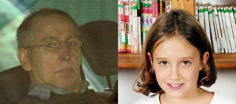 Montage photo présentant le tueur en série Michel Fourniret (à gauche) et Estelle Mouzin, disparue en janvier 2003 à Guermantes (à droite).