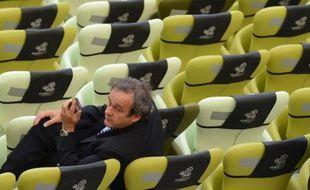 Michel Platini, au terme du match de l'Euro Espagne-Italie à l'Arena de Gdansk le 10 juin 2012.
