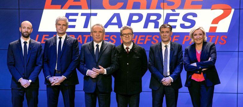 Six chefs de parti ont débattu mercredi soir sur BFM TV.