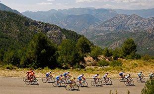 Après la douceur de la Méditerranée, la rudesse des Pyrénées espagnoles pour cette étape entre Barcelone et Arcalis, le 10 juillet 2009.