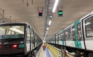 Le Centre de Dépannage des Trains (CDT) mis en place à l'extrémité de la ligne 4