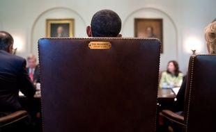 Le fauteuil de Barack Obama à la Maison Blanche.