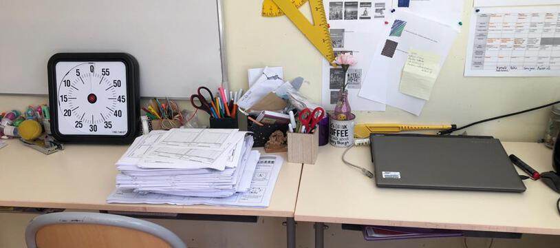 Une classe de l'école élémentaire de Borderouge à Toulouse. Illustration.