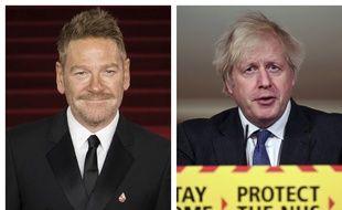 Kenneth Branagh incarnera Boris Johnson (à dr.) dans la série This Sceptred Isle.