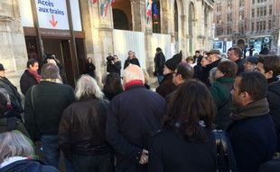 Rassemblement en souvenir de Francesca, le 4 janvier 2015