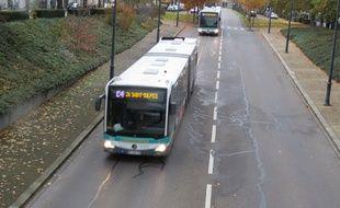 Illustration des bus du Star à Rennes, circulant ici sur la