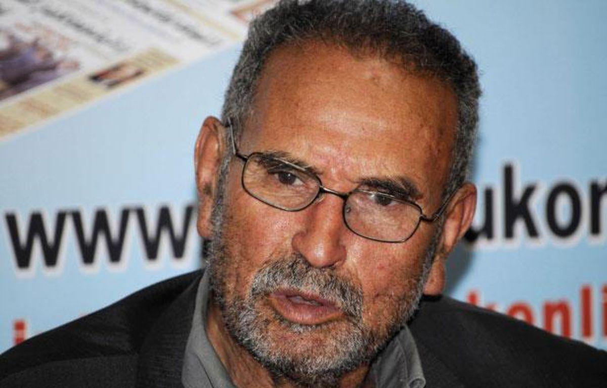 Mohamed Benalel Merah, père de Mohamed  Merah, lors d'une conférence de presse à Alger, le 27 mars 2012. – SIPA