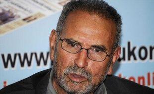 Mohamed Benalel Merah, père de Mohamed  Merah, lors d'une conférence de presse à Alger, le 27 mars 2012.