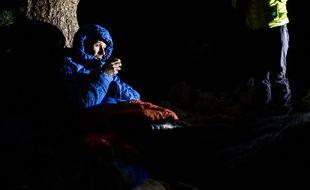 François D'Haene, ici lors de son record réalisé sur le sentier américain du John Muir Trail (359 km) en 2017.