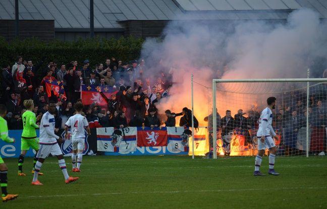 Les supporters lyonnais ont mis une drôle d'ambiance ce mercredi, pour un match d'U19.