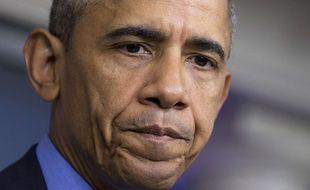 Barack Obama lors de son allocution après la fusillade de Charleston, le 18 juin 2015.