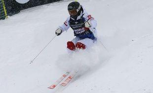 Perrine Laffont lors des championnats du monde de ski de bosses en parallèle, le 9 février 2019 à Park City, aux Etats-Unis.
