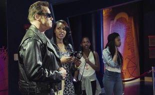Arnold Schwarzenegger en Terminator au musée Madame Tussauds de Los Angeles.