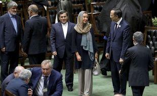 Federica Mogherini s'est rendue à Téhéran le 5 août 2017.
