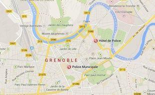 L'hôtel de police de Grenoble vu sur Google Maps.
