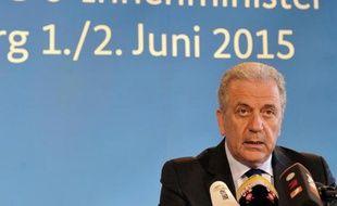 Le commissaire européen aux Affaires intérieures, Dimitris Avramopoulos, le 2 juin 2015 à Dresde