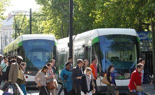 Le 4 juin 2013, Illustration tram de la TAN ? Nantes.