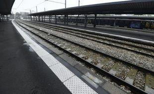Des quais déserts à la gare d'Austerlitz à Paris le 4 juin 2016