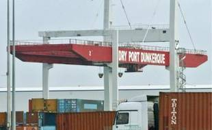 Une partie du port dunkerquois en grève.