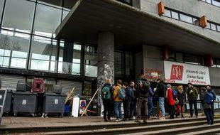 Le campus de Droit, à Lille, a été bloqué le 5 avril dernier.