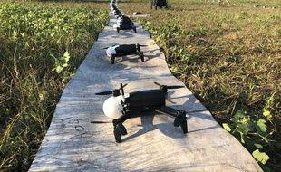 Les drones utilisés par la société Dronisos sont conçus par le Français Parrot.