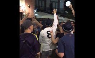 Les supporters de Tottenham en pleine forme dans les rues de Madrid, le 16 octobre 2017.