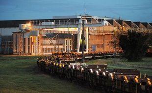 L'usine ArcelorMittal de Basse-Indre (Loire-Atlantique), le 4 décembre 2012.
